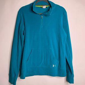 Under Armour Turquoise Quarter Zip Fleece Pullover
